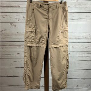 REI Tan Petites Convertible Cargo Hiking Pants